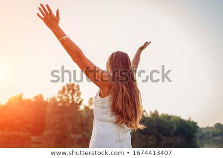 senior · mulher · idoso · pessoa · sorridente - foto stock © wavebreak_media