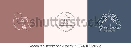фотограф · жетоны · Этикетки · Vintage · стиль · простой - Сток-фото © jeksongraphics