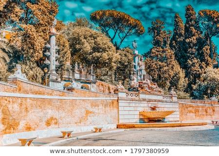 Fontana della Dea di Roma, Piazza del Popolo, Rome, Italy Stock photo © ankarb