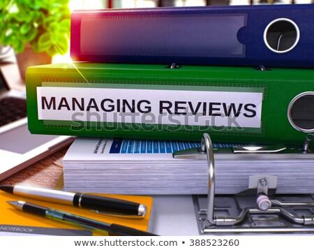Managing Reviews on Folder. Toned Image. 3D. Stock photo © tashatuvango