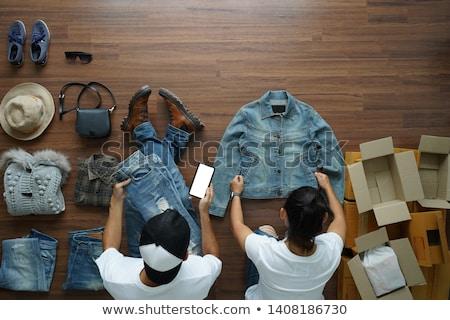 Divat designer mobiltelefon otthon üzlet ház Stock fotó © wavebreak_media