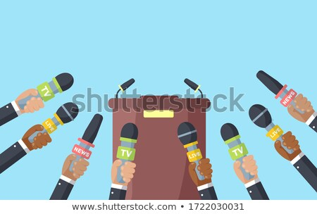 tv media or press interview stock photo © wellphoto