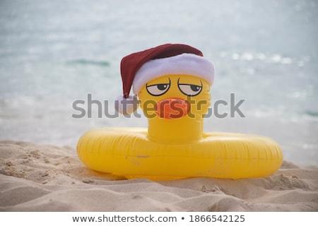 Gummi gelb Ente Klausel hat Stock foto © homydesign