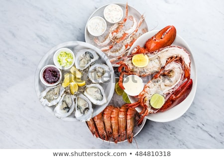 assorted fresh seafood platter Stock photo © M-studio