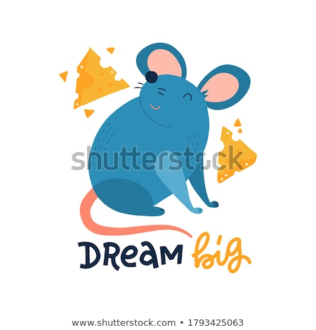 Rat isolated. Big Mouse. Rodent vector Illustration Stock photo © MaryValery