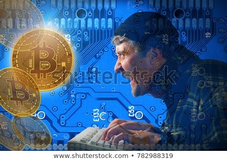 を ハッカー ポンド お金 コンピュータ ポップアート ストックフォト © studiostoks