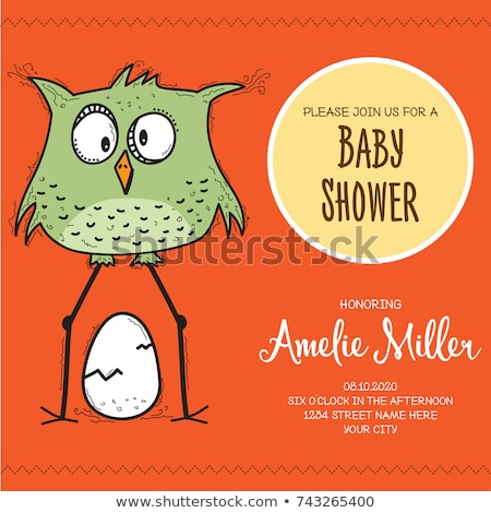 Baby doccia carta modello divertente doodle Foto d'archivio © balasoiu