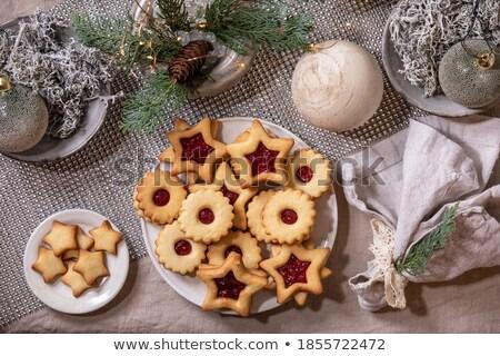 пластина домашний Рождества Печенье выбора Cute Сток-фото © IS2