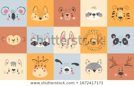Cute animals with happy smile Stock photo © bluering