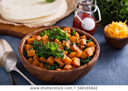 картофельный салат тоста чаши поджаренный хлеб растительное Сток-фото © Digifoodstock