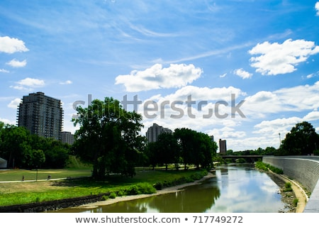 London Ontario szín rajz sziluett város Stock fotó © blamb