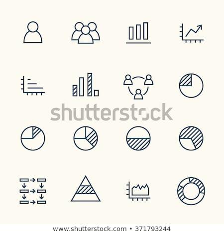 Pyramid with Arrow Thin Line Vector Icon Stock photo © smoki