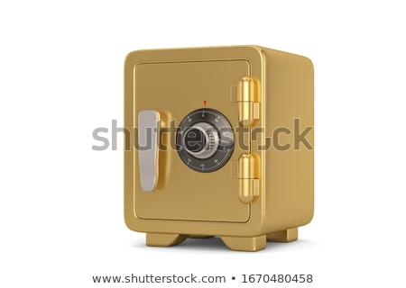 Metallic safe box with closed door icon Stock photo © studioworkstock