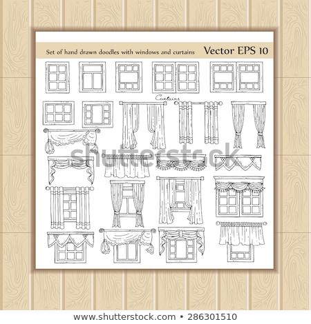 Criador windows opções isolado conjunto usuário Foto stock © studioworkstock