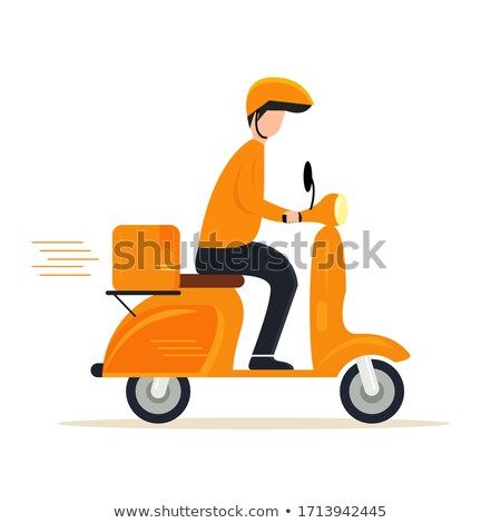 Scooter sale advertising in flat style Stock photo © studioworkstock
