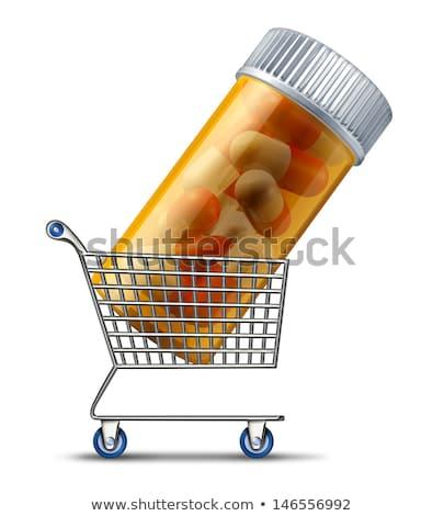 Ordonnance bouteilles douleur dépendance haut vue Photo stock © tab62