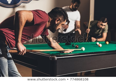 Men playing pool Stock photo © IS2