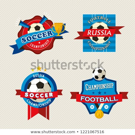 russian football match event label set for 2018 stock photo © cienpies