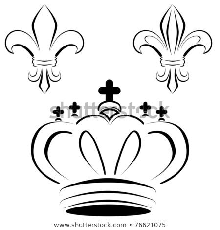 Royal Crown Fleur Art Stock photo © cteconsulting