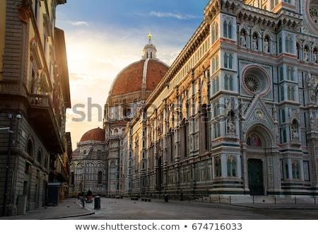 Florence napfelkelte homlokzat híres bazilika égbolt Stock fotó © Givaga