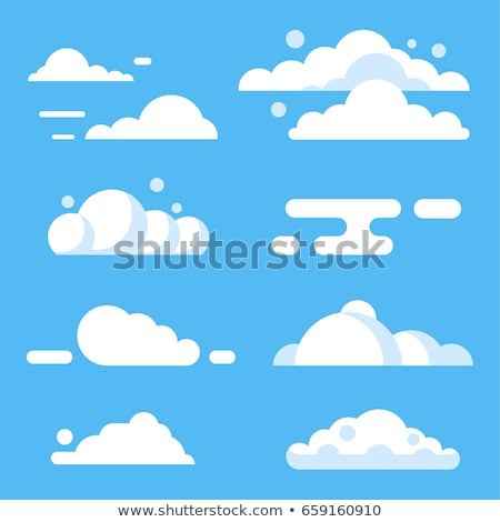 Cloud Icons With Blue And Transparent Background Stock photo © adamson