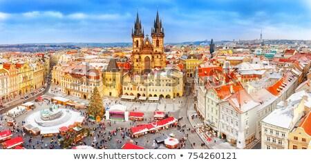 kilise · Prag · aziz · barok · kasaba · gökyüzü - stok fotoğraf © benkrut