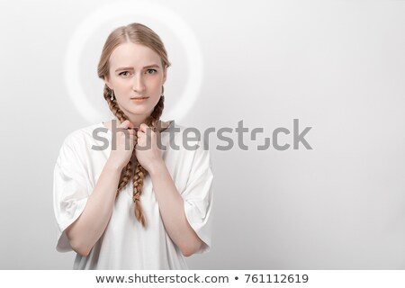 Two beautiful angel women Stock photo © konradbak