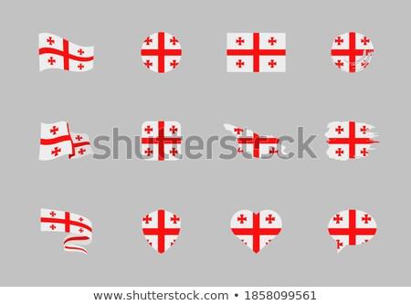 Грузия сердце флаг вектора изображение Мир Сток-фото © Amplion