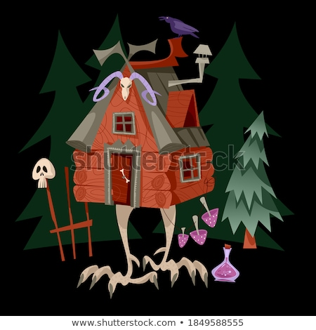 mushroom with legs forest monster vector illustration stock photo © popaukropa