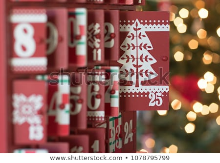 Feliz natal advento calendário portas abertura Foto stock © solarseven