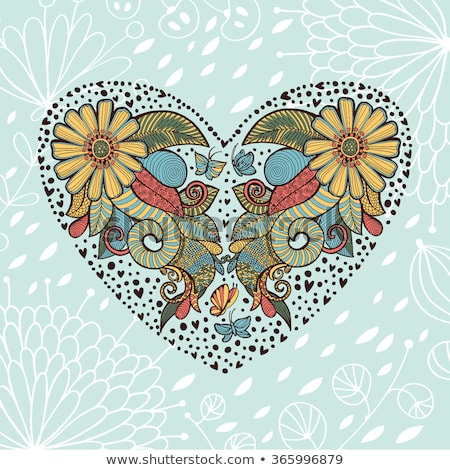 Mooie cute wenskaart frame ruimte tekst Stockfoto © Lady-Luck