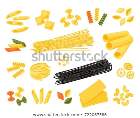 assorted colorful italian pasta stock photo © melnyk