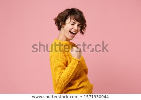 Evet yakışıklı gündelik adam heyecan Stok fotoğraf © luissantos84