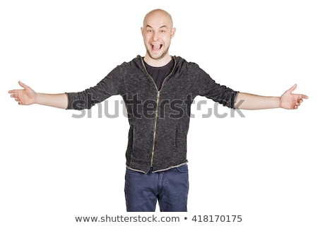 cheerful people with wide open arms greet everyone stock photo © robuart