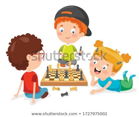 Happy Cartoon Chess King Stock photo © cthoman