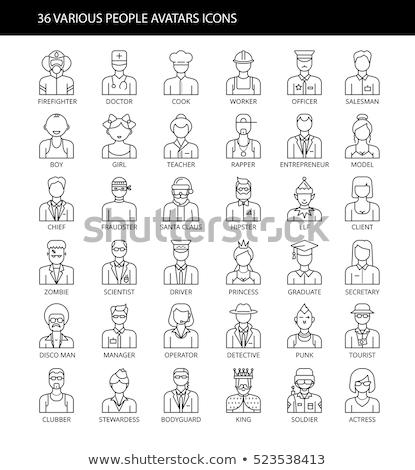 Turísticos hombre avatar personas icono Cartoon Foto stock © Krisdog