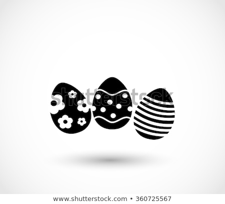 egg vector icon set elements Stock photo © blaskorizov