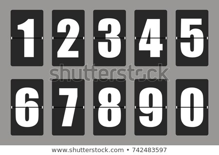 Counting numbers on board Stock photo © colematt