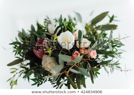 beautiful modern wedding bouquet on wooden planks Stock photo © ruslanshramko
