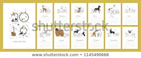 kreatív · naptár · sablon · terv · iroda · asztal - stock fotó © SArts