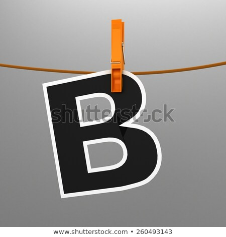 Clothespin letter B Stock photo © boggy