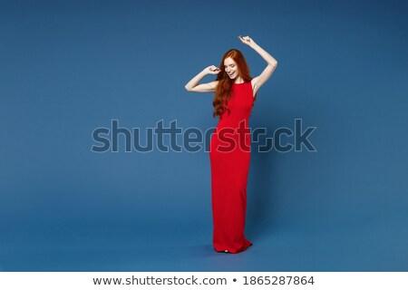 Tam uzunlukta görüntü moda kadın 20s Stok fotoğraf © deandrobot