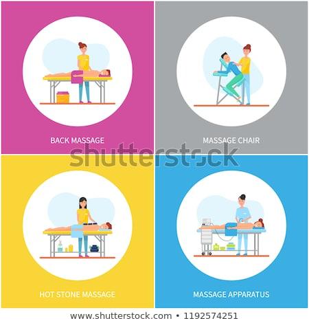 massage methods of masseuses icons set vector stock photo © robuart