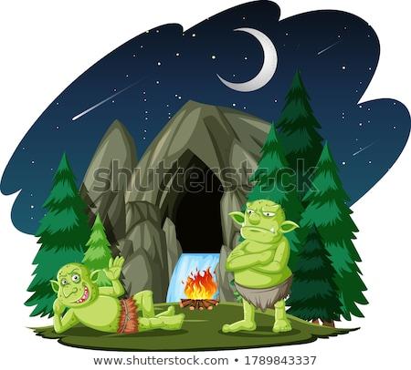 Cartoon Orc Stone Stock photo © cthoman