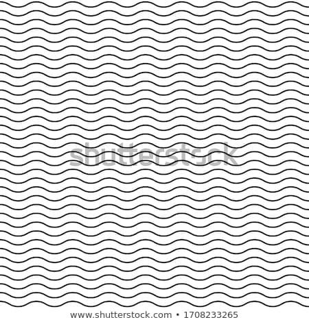 Preto vetor sem costura ondulado linha padrão Foto stock © blumer1979
