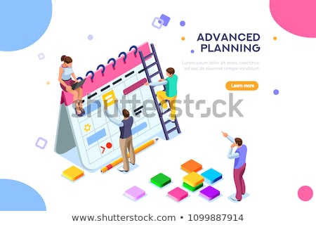 Infographics Strategy Presentation on Meeting Stock photo © robuart