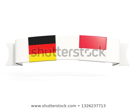 Banner with two square flags of Germany and indonesia Stock photo © MikhailMishchenko