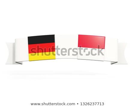 баннер два квадратный флагами Германия Индонезия Сток-фото © MikhailMishchenko