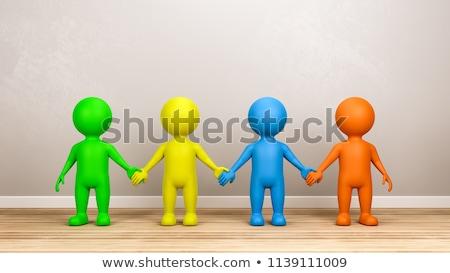 égalité · échelles · justice · racisme · métal - photo stock © make