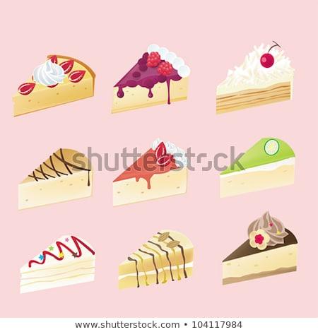 Raspberry Shortcakes Illustration Stock photo © lenm